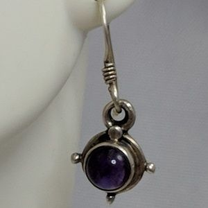 Jewelry - Sterling Silver Vintage Purple Amethyst Earrings